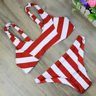 Sexy Women Red Brazilian Bikini Set Push Up Padded Swimwear Beach Bathing suit