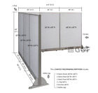 GOF L-Shaped Freestanding Partition 90D x 114W x 48H   Office,  Room Divider