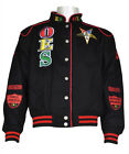 Order of the Eastern Star O.E.S Black Twill Race Jacket Sorority Jacket  S-5X