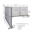 GOF L-Shaped Freestanding Partition 90D x 126W x 48H   Office,  Room Divider