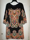 EUC   INC International Concepts Paisley Shift Dress Size Large Women's