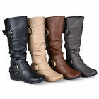 Journee Collection Womens Wide and Extra Wide-Calf Slouch Knee-High Riding Boot