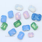 opal color octagon crystal glass point back rhinestones jewelry making All sizes