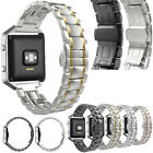 Stainless Steel Wrist Strap Band Bracelet + Metal Frame For Fitbit Watch
