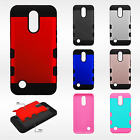 For LG K20 Plus Tuff Trooper HYBRID TPU Hard Case Skin Phone Cover +Screen Guard