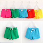 Summer Kids Cotton Shorts Baby Boys Girls Candy Colours Clothing Shorts