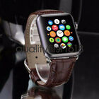 Genuine Leather iWatch Watch Band Strap for Apple Watch Series 4 3 2 44mm 42mm image