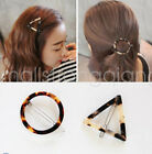 Fashion Women girl Triangle Round Hair Clips Barrette Hairpins Hair Accessories