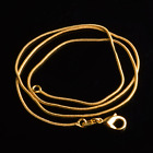 """Wholesale Fashion10pcs 1mm 18K gold plated Snake Chain necklace 16""""-30"""" jewelry"""