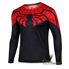 Superhero Marvel Comics Costume Men Cycling T-Shirts Long Sleeve Bicycle Jersey