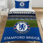 CHELSEA FC SINGLE BED DUVET QUILT COVER SET FOOTBALL STAMFORD BRIDGE STADIUM NEW