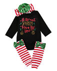 Newborn Infant Baby Boys Girls Top Rompers+Long Pants Outfits Cotton Clothes USA