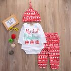 Newborn Infant Baby Boys Girls Top Rompers+Long Pants Outfits Cotton Clothes USA фото