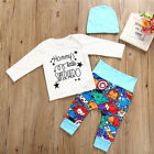 Newborn Infant Baby Boys Girls Top Rompers Long Pants Outfits Cotton Clothes USA