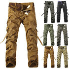 Trendy Men Causal Pocket Military Cargo Combat Pants Work Army Pants Trousers