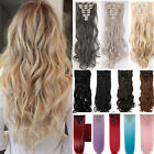 100%Real Natural Long Clip In Hair Extensions Full Head Hair Fake Human Feel Fm5