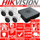 HIKVISION HIWATCH 4CH NVR + X1 2 3 4 4MP CCTV IPC-T140 CAMERA HOME SECURITY KIT