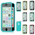 For Apple iPhone 5C TPU Wrap Up Phone Case Cover with Built In Screen Protector#