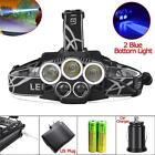 80000 LM 5X XM-L T6 LED USB Headlight Torch Lamp +18650 Battery+5V Charger US UP
