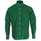 Relco Green and Black Check Long Sleeve Button Down Mod Shirt Size S - XXL