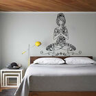 Lotus Wall Decals Yoga Pose Vinyl Bohemian Sticker Decal Med