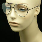 Reading glasses clear aviator style men women new power pilot metal large lens