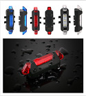 Safety 5 LED USB Rechargeable Bike Cycling Tail Rear Warning Light Taillight
