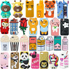 3D Hot Soft Silicone Rubber Cute Animal Cartoon Phone Case Cover Back For iPhone