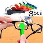 8pcs Mini Sun Glasses Eyeglass Microfiber Spectacles Cleaner Brush Cleaning Tool