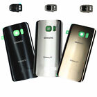 For Samsung Galaxy S7 S7 edge Battery Back Door Glass Cover Rear + Camera Frame