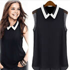 New Women Summer Chiffon Vest Top Sleeveless Blouse Casual Tank Tops T-Shirt US