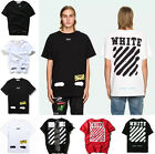 Off-White Stripe C/O Men Unisex T-shirt Short Sleeve Virgil Abloh Top Tee Shirts