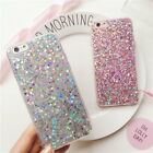 Fashion Full Bling Glitter Soft Silicone Phone Cover Case for iPhone6s 7Plus A1