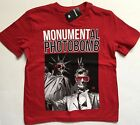 Justice boys shirt photo bomb president red tee size 5 6 7 8 10 Brothers NEW NWT