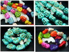 19mm 23mm 27MM Blue Howlite Turquoise Gems Buddha Head Spacer Beads 20pcs T094