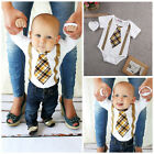 kids-baby-boy-clothes-plaid-tie-and-suspenders-bodysuit-romper-outfits-us-stock