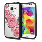 For Samsung Galaxy Core Prime G360 Black Hybrid Bumper Clear Crystal Case Cover