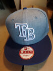 Tampa Bay Rays New Era MLB Fresh Tone 9FIFTY Snapback Flat Bill Brim Cap Hat TB