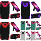 For LG Fiesta LTE/K10 Power/X Charge/X Power 2 T-Stand Hard Hybrid Case Cover