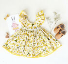 0-3T Toddler Baby Kids Girls Floral Dress Wedding Pageant Princess Party Dresses