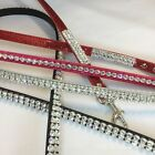 Bling Crystal Rhinestone Pet Dog Cat Leash Lead USA Red Pink Silver Black Etc.