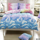 Cloudy Quilt Doona Duvet Cover Set Pillowcases Set Single Queen King Bed Size