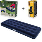 Double Single Flocked Camping Airbed Inflatable Mattress Blow Up Air Bed Pump