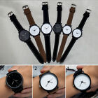 Fashion Simple Women Men's Faux Leather Quartz Analog Sport Couple Wrist Watch