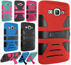 Samsung Galaxy Amp Prime Hard Gel Rubber KICKSTAND Case Phone Protector Cover