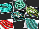 """6MM,8MM,10MM,11MM,12MM Gems Turquoise abacus-bead Spacer Beads 16"""" T0007A"""