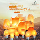 Large Himalayan Natural Rock Crystal Salt Lamp Air Purifier Night Light Tower