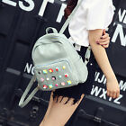 New Fashion Casual Pu Leather Candy Color School Style Student Mini Backpack