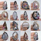 37-34mm Drusy druzy agate pendant *each one pictured*