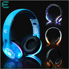 Foldable Bluetooth LED Headphone Wireless Glowing Earphone Headset Bult-in-MIC